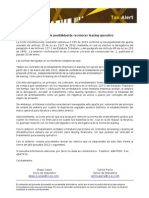 Tax Alert - Inexequible Posibilidad de Reconocer Leasing Operativo