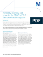 Antibody recovery and reuse in the SNAP i.d.® 2.0 immunodetection system