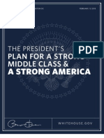 The President's Plan for a Strong Middle Class and a Strong America