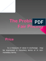 problem in fair pricing