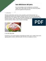 Los 20 Platos Mas Deliciosos Del Peru