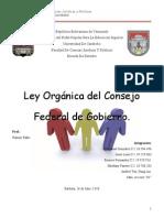Ley Orgànica del Consejo Federal de Gobierno - Trabajo del 3er Lapso