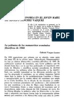 Vargas Lozano - Filosofía y economía en el joven Marx, de Adolfo Sánchez Vázquez