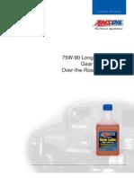 AMSOIL 75W90 Long Life Synthetic Gear Lube - Field Study
