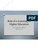 role of e-learning in higher education