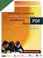 Material Participante Situaciones de Aprendizaje Centradas en los Contenidos Matematicas Secundaria