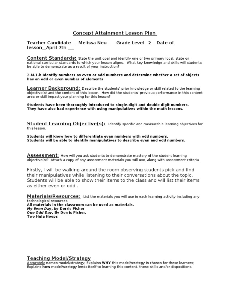 What is a lesson plan objective periodic table lesson plan objectives best of urtaz Image collections