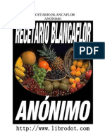 Recetario Blancaflor