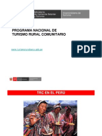 Programa Nacional de Turismo Comunitario - Perú