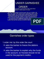 Right Under Garnishee Order