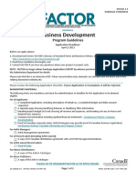 Business Development Guidelines 2012