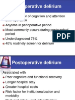Postoperatory Delirium