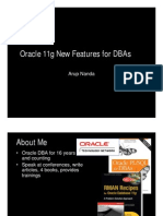 Oracle 11g New Features for DBAs-- Arup Nanda--58 Pages