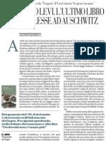 Esce «Tempesta». L'ultimo libro che Primo Levi lesse ad Auschwitz, di Valerio Magrelli - La Repubblica 13.02.2013