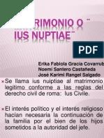 Matrimonio o _ Ius Nuptiae