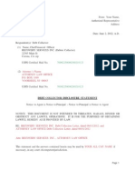 Debt Collector Disclosure Statement