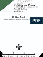 Barth, Karl - Die Auferstehung der Toten Eine Akademische Vorlesung über 1. Kor. 15 - Kaiser 1924