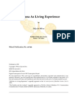 Nibbana as Living Experience