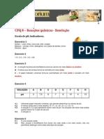 Ficha de CFQ - Escala de ph e indicadores resolução