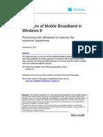 Mobile Broadband Overview Windows 8