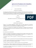 Reglamento Orgánico de la Presidencia de la República