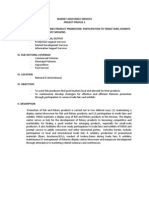 BFAR-FIDSD Project Proposal on Participation to Trade Fairs & Exhibits