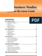 HSC Business Studies Syllabus Revision Guide