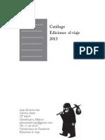 Ediciones el viaje, catálogo editorial 2013