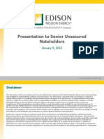 Edision Mission Energy Unsecured Noteholders (Jan.2013Update) Post