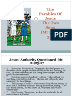 The Parables of Jesus the Two Sons (