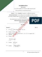 Mathematics 12th ISC Sample Paper
