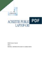 Proiect Achizitii Laptopuri