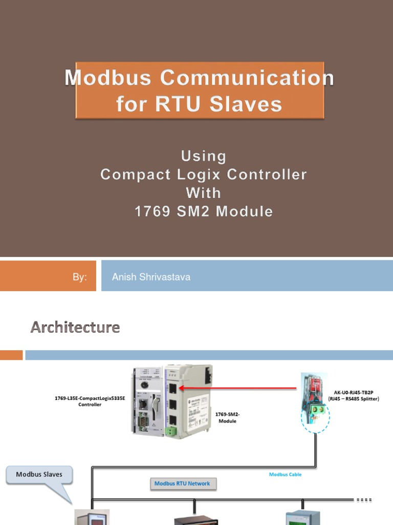 Modbus Using CompactLogix 1769 SM2