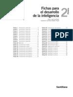 FICHAS PARA DESARROLLO DE LA INTELIGENCIA. 2º PRIMARIA