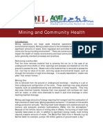 Mining and Community Health - Alaska Article