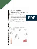 Manuel Delgado - La Otra Cara Del Forum de Les Cultures 2004