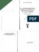 Paul Oskar Kristeller - El Pensamiento Renacentista y Las Artes (Libro)