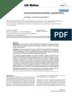 Aetiology of Trombosed External Haemorrhoids