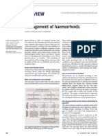 Management of Hemorrhoids