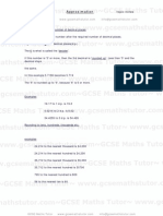 Revise Approximation  - Topic Notes - provided by GCSE Maths Tutor