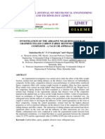 Investigation of the Abrasive Wear Behaviour of Graphite Filled Carbon Fabric Reinforced