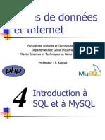 Cours - TIC - Bases de données et internet - Chapitre 4 - Introduction à SQL et à MySQL