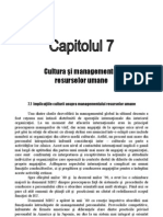7.Cultura Si Managementul Resurselor Umane