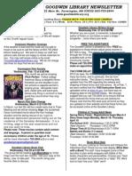 February 2013 Goodwin Library Newsletter