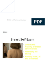 Brst Self Examination Research