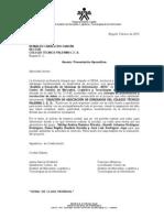 SENA Carta de presentación
