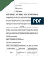 Apontamentos para GRH em CPP - A GRH nas organizações