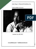 MLK Foundation Scholarship