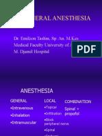 Teknik Anestesi Umum
