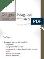 gangguan koagulasi pada sindrom metabolik